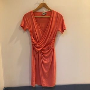 ASOS Tulip coral wrap dress